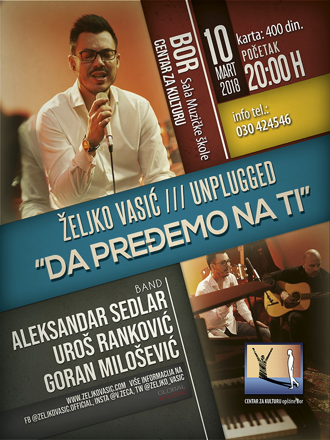 Zeljko Vasic Plakat UNPLUGGED BOR S